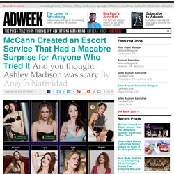 McCann Created an Escort Service That Had a Macabre Surprise for Anyone Who Tried It