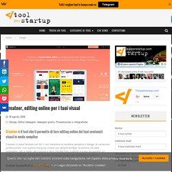 Createer, editing online per i tuoi visual - Tool per Start up