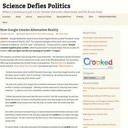 How Google Creates Alternative Reality