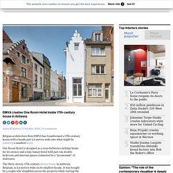 DMVA creates One Room Hotel inside 17th-century house in Antwerp