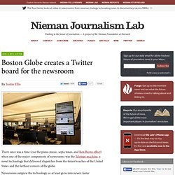 Boston Globe creates a Twitter board for the newsroom