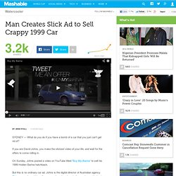Man Creates Slick Ad to Sell Crappy 1999 Car