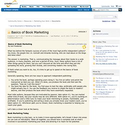 Basics of Book Marketing