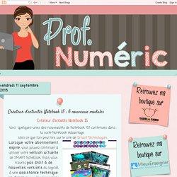 Créateur d'activités Notebook 15 : 6 nouveaux modules