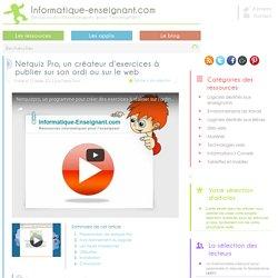 Netquiz Pro, un créateur d'exercices à publier sur un ordinateur ou sur le web