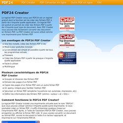 PDF24-creator : créer des PDF à partir de n'importe quelles applications.