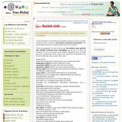 Les CREATIFS CULTURELS en France: recensions dans la PRESSE