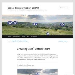 Creating 360˚ virtual tours