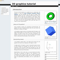 Creating 3D graphics