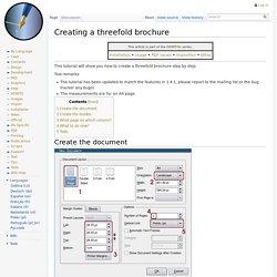 Creating a threefold brochure