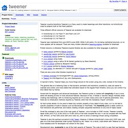 tweener - Google Code