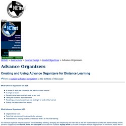 NETnet Creating Advance Organizers