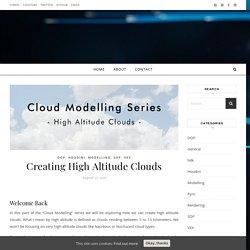 Creating High Altitude Clouds – FX blog by Sergen Eren