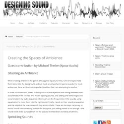 Creating the Spaces of Ambience
