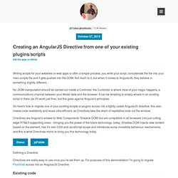 Creating an AngularJS Directive from one of your existing plugins/scripts