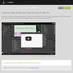 Creating a Web Design with Edge Animate CC (Part 02)