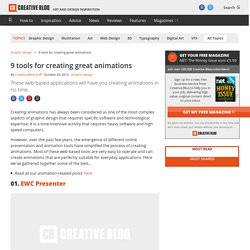 9 tools for creating great animations