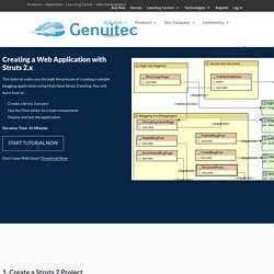 Creating a Web Application with Struts 2.x - Genuitec