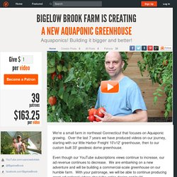 Support Bigelow Brook Farm creating A New Aquaponic Greenhouse