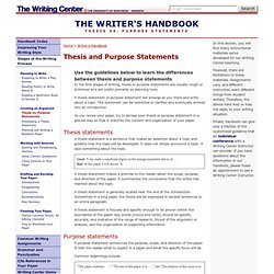 creating thesis statement