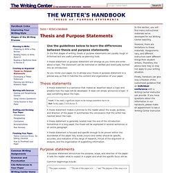 Dissertation purpose statement