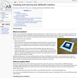 Creating and training new ARToolKit markers - ARToolworks support library