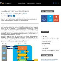 Creating ASP.NET Web API with MVC 6