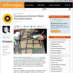 Creating an Authentic Maker Education Rubric