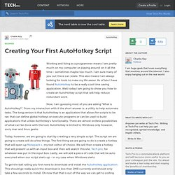Creating Your First AutoHotkey Script