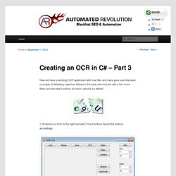 Creating an OCR in C# – Part 3