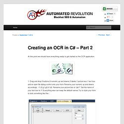 Creating an OCR in C# – Part 2