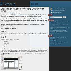 Creating an Awesome Website Design With Gimp - Fantastic Web Des