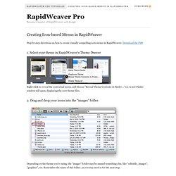 Creating Icon-based Menus in RapidWeaver