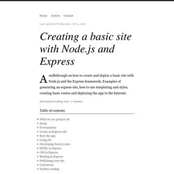 Creating a basic site with Node.js and Express