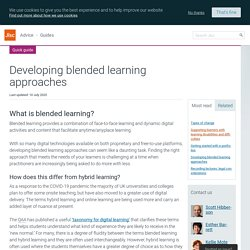 Creating blended learning content