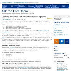 Creating bootable USB drive for UEFI computers - Ask the Core Team