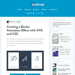 Creating a Border Animation Effect with SVG and CSS