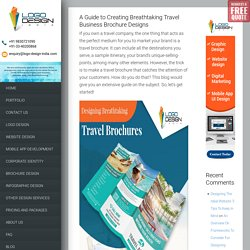 A Guide to Creating Breathtaking Travel Business Brochure Designs