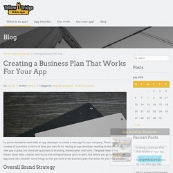 Creating a Business Plan That Works for Your App