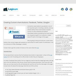 Creating Custom share buttons: Facebook, Twitter, Google+