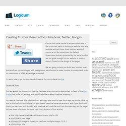 Creating Custom share buttons: Facebook, Twitter, Google+