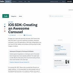 iOS SDK: Creating an Awesome Carousel