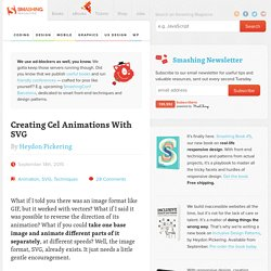 Creating Cel Animations With SVG