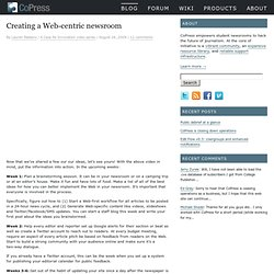 Creating a Web-centric newsroom