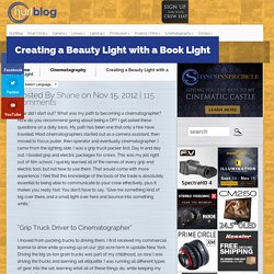 Creating a Beauty Light with a Book Light - Lighting for Cinematographers