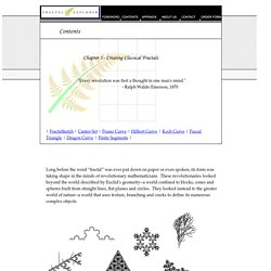 Chapter 3: Creating Classical Fractals on the Macintosh