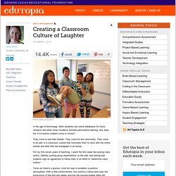Creating a Classroom Culture of Laughter