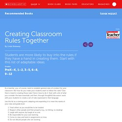 Creating Classroom Rules Together