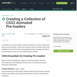 Creating a Collection of CSS3 Animated Pre-loaders