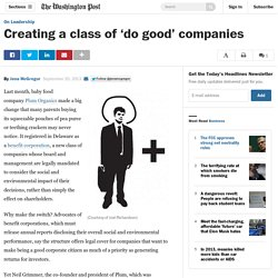 Creating a class of 'do good' companies